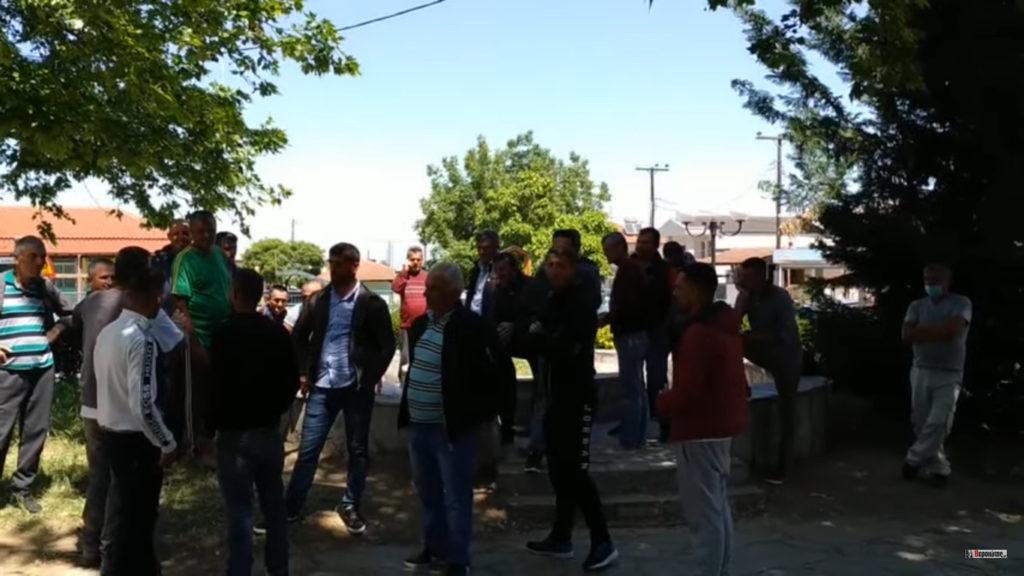 Απεργία Αλβανών εργατών γης στην Αγία Μαρίνα Βεροιας