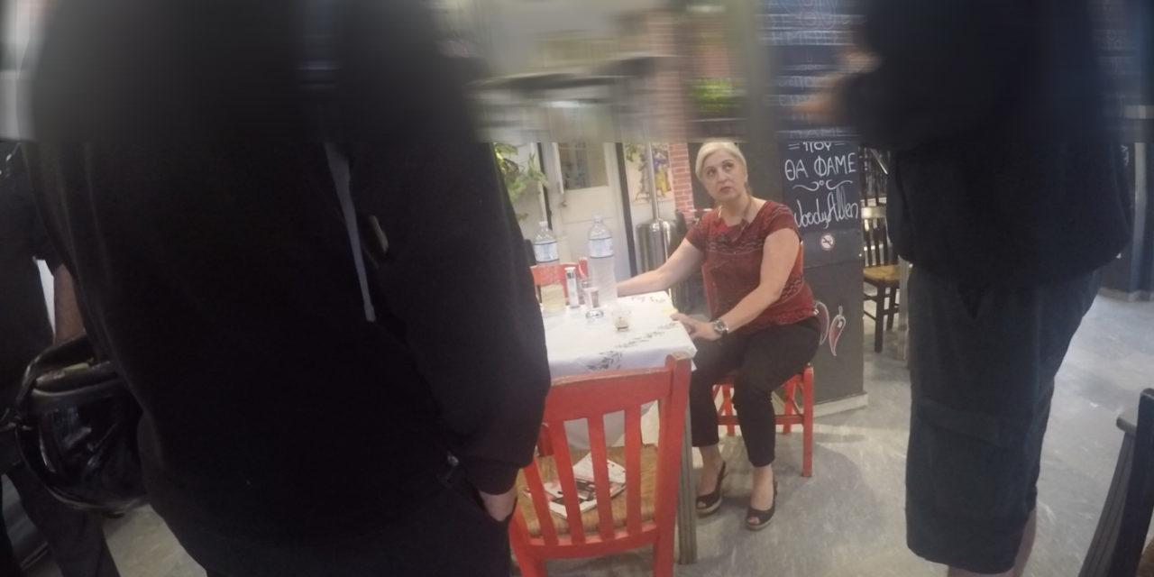 """Ρουβίκωνας: Παρέμβαση στο Ψητοπωλείο """"Ο Θανάσης""""στου Ζωγράφου"""