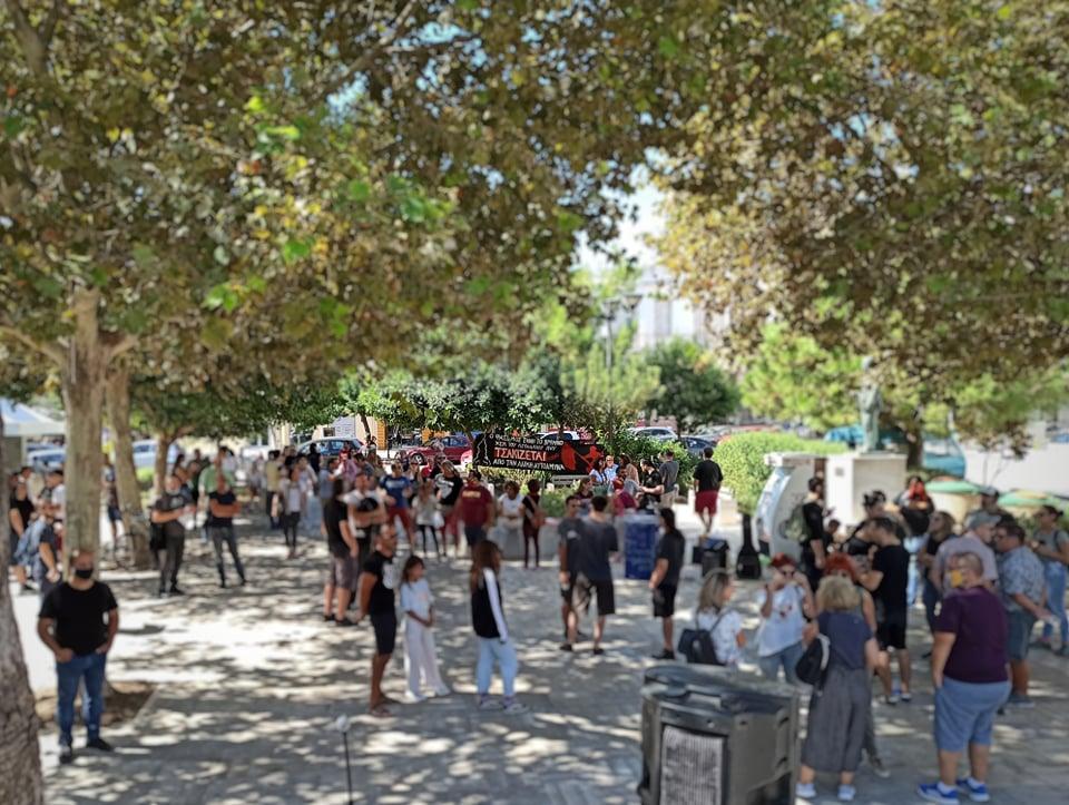 Από την Αντιφασιστική συγκέντρωση στις 27/9 στο Κιάτο | Ελευθεριακή Συλλογικότητα Fiore Nero