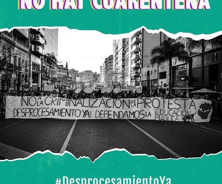 Αλληλεγγύη στους φοιτητές και τους καθηγητές που διώκονται για την ταξική συνδικαλιστική τους δράση στην Αργεντινή. | Αναρχική Ομοσπονδία