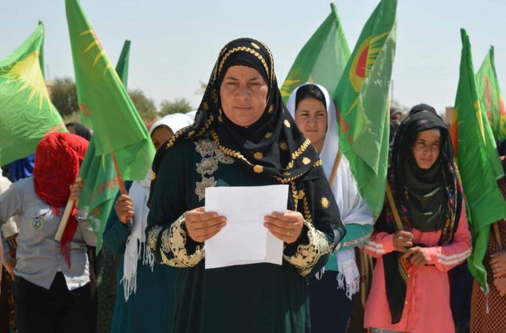 Όχι στην κατοχή και στη γενοκτονία, θα υπερασπιστούμε τις γυναίκες και τη ζωή!