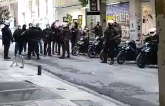 Αποκλεισμός και αποπειρα εισβολής της ΕΛΑΣ στα γραφεία της ταξικής αντεπίθεσης
