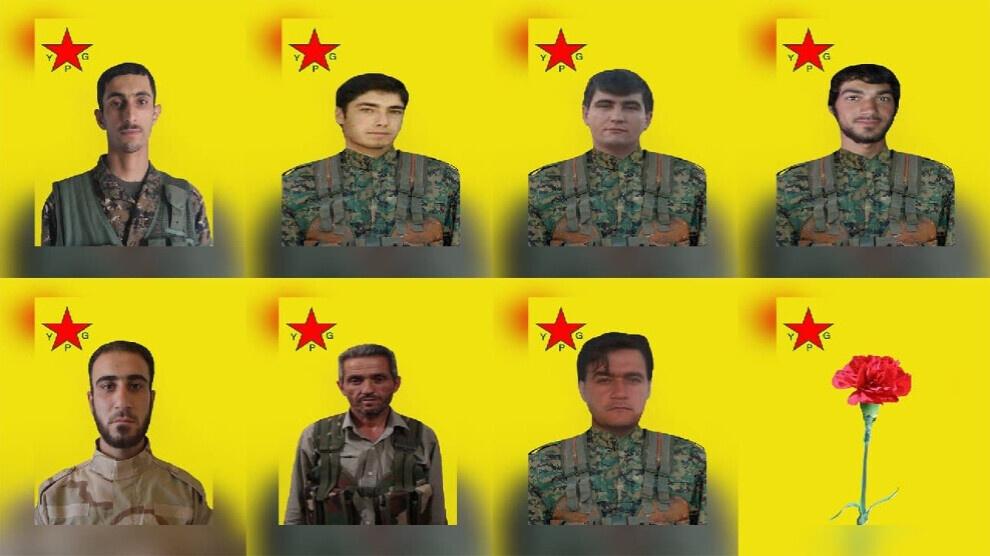 Τα οκτώ μέλη του YPG που έπεσαν στις μάχες του Χαλεπίου