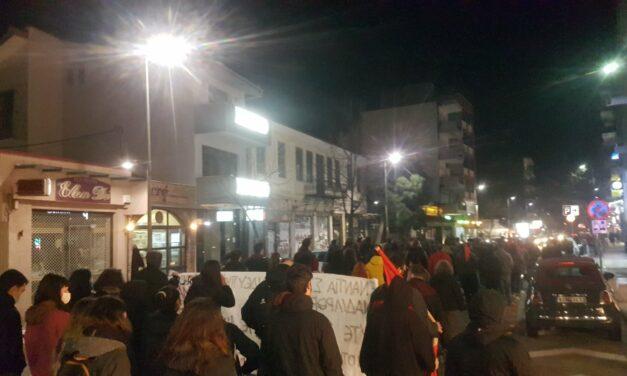 Πορεία στην Ξάνθη για τα γεγονότα στο ΑΠΘ