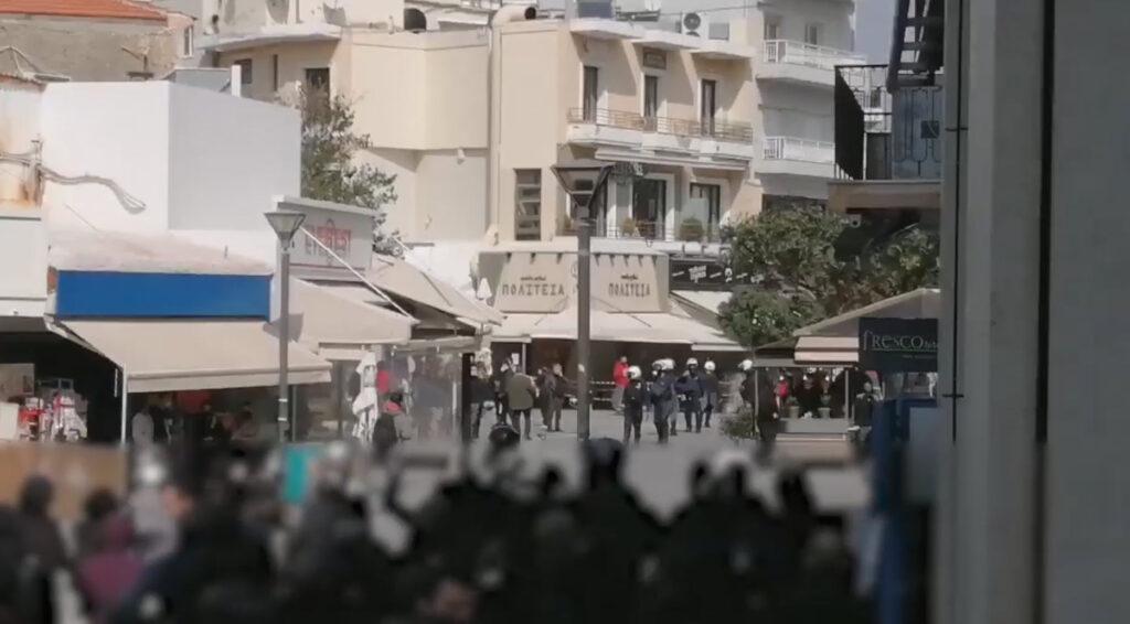 Βίντεο (2ο) απο την σημερινή συγκέντρωση στο Ηράκλειο Κρήτης – Πλ. Λιοντάρια