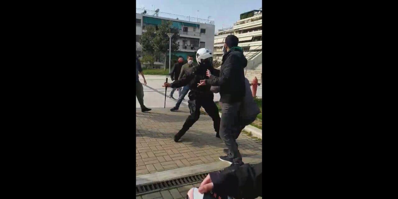 Αστυνομική τρομοκρατία στη Νεα Σμύρνη [VIDEO]