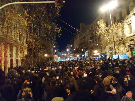 Αθήνα   Από την πορεία αλληλεγγύης στον αγωνιστή Δ. Κουφοντίνα