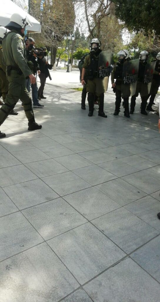 Αθήνα   Η σημερινή συγκέντρωση για τον απεργό Δ. Κουφοντίνα χτυπήθηκε