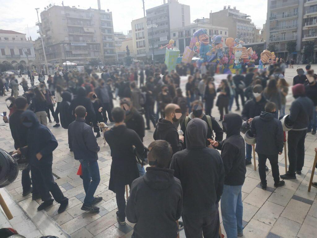 Πάτρα   Από την συγκέντρωση αλληλεγγύης στον απεργό Δ. Κουφοντίνα. Η σημερινή συγκέντρωση και πορεία που ήταν καλεσμένη στις 11:30.