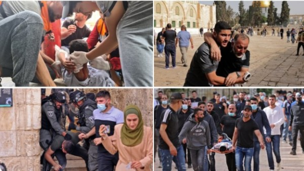 Βίαιη ισραηλινή καταστολή στην πλατεία Al Aqsa της κατεχόμενης Ιερουσαλήμ