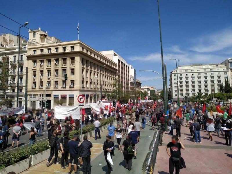 Αθήνα   Ανταπόκριση από την απεργιακή διαδήλωση της Πρωτομαγιάς