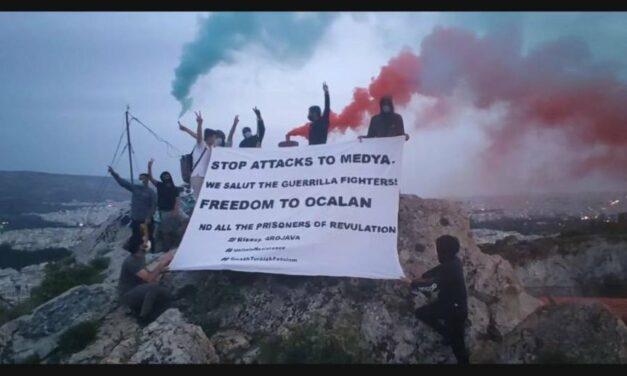 Αθήνα | Διαμαρτυρία των Riseup4Rojava και TCŞ στον Λυκαβηττό για τις επιθέσεις στο Κουρδιστάν