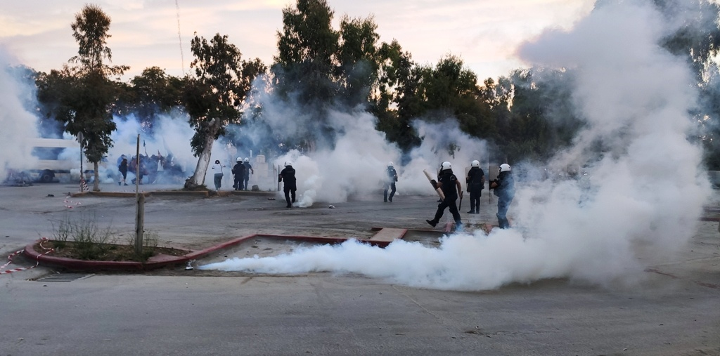 Χρονικό από τις επιθέσεις που είχε δεχτεί η πορεία κατά της Καύσης Σκουπιδιών στην LAFARGE/ΑΓΕΤ, 13/6/2020