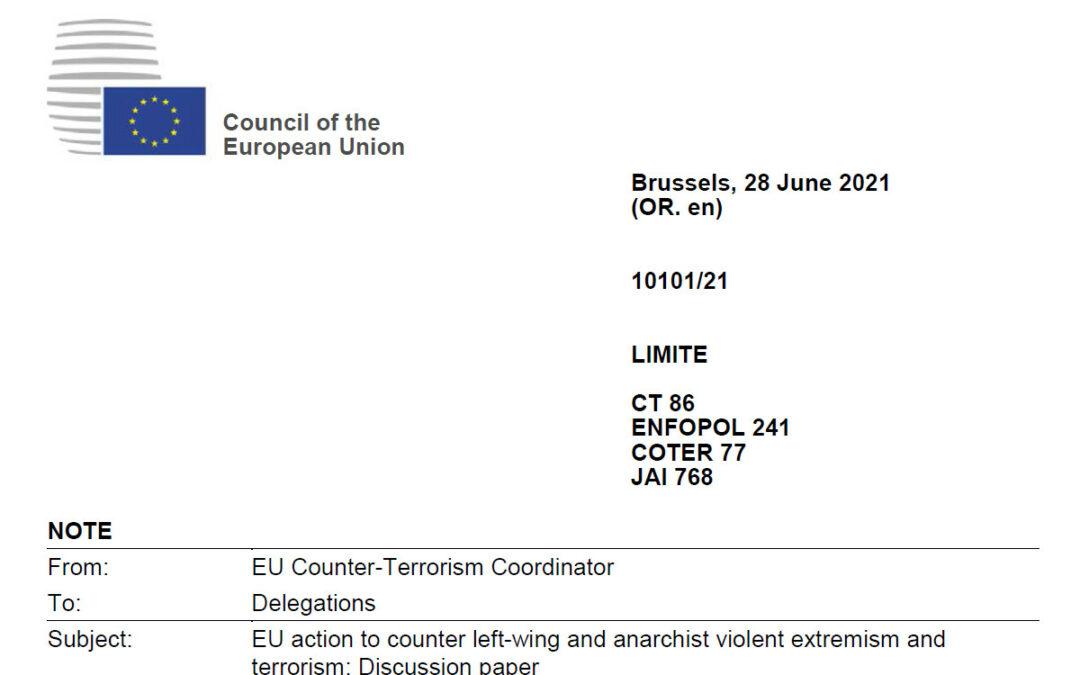 """ΕΕ: """"Ειδική δράση της ΕΕ κατά της βίαιης αριστεράς και του αναρχικού εξτρεμισμού"""""""