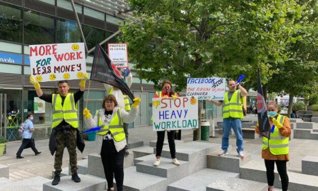 Λονδίνο | Ο αγώνας των καθαριστριών στα γραφεία της εταιρείας «Facebook» συνεχίζεται
