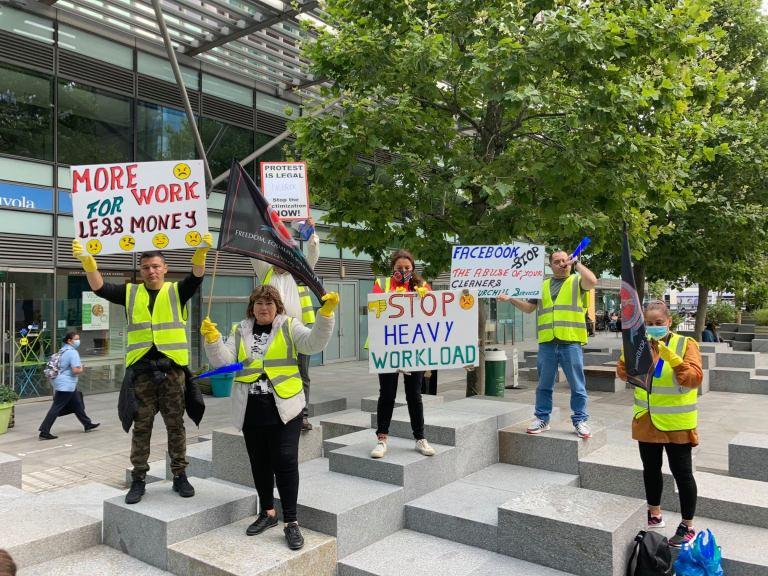 Λονδίνο   Ο αγώνας των καθαριστριών στα γραφεία της εταιρείας «Facebook» συνεχίζεται